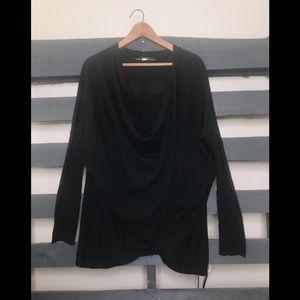 All saints wrap sweater cotton size 8